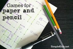 games with paper and pencil