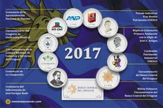 LAS EMISIONES QUE SE VIENEN Infografía con las temáticas de las acuñaciones 2017 de monedas de plata conmemorativas y los billetes de polímero.