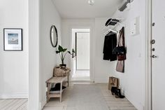 Simple & organized entryway