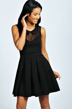 |Kimberley Collar Skater Dress| at boohoo.com