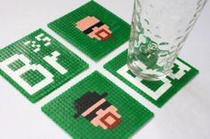 Quick Tip: Make an Awesome Set of Pixel Art Breaking Bad Coasters | Crafttuts+  For Nick...