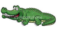 Kreslený krokodýl — Stocková ilustrace #28933865