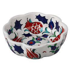 Our elegant handmade turkish Red Tulip Bowl celebrates traditional iznik pottery. The perfect accent for any home decor from bohemian to traditional.