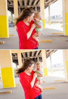 Sweet moment between mom and son during session in Downtown Birmingham!