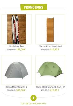 Nos dernières promotions : prix en baisse sur les tentes, matelas, sacs à dos... Profitez-en ! http://www.aventurenordique.com/produits-en-promotion.html