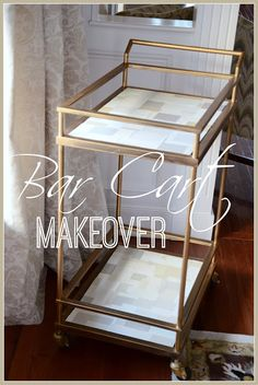 Bar Cart Makeover with Paint Chips... easy and free