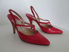 Manolo Blahnik Red Leather Slingback Dancing Tap Shoes Size 36   Clothing, Shoes & Accessories, Women's Shoes, Heels   eBay!