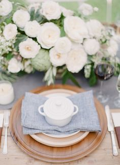 #place-settings  Photography: Bryan N. Miller Photography - bmillerweddings.com  Read More: http://www.stylemepretty.com/california-weddings/2014/07/23/organic-dinner-party-wedding-inspiration/