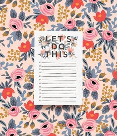 Let's Do This!  Our new notepad is sure to inspire you to tackle even the toughest t...