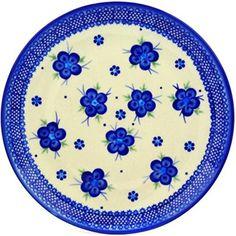 Ceramika Bona H0376C Polish Pottery Ceramic Plate Hand Painted, 10-Inch