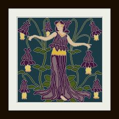 Columbine+Flower+Fairy+cross+stitch+pattern+PDF+by+Whoopicat,+$6.00