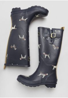 Doggie Print Rain Boots By Joules | Modern Vintage New Arrivals