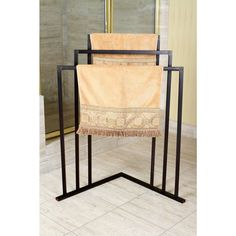 Oil Rubbed Bronze 3-tier Iron Construction Corner Towel Rack | Overstock.com Shopping - The Best Deals on Other Bath Accessories. Overstock.com
