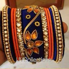 Silk Thread Bangles Design, Silk Bangles, Silk Thread Earrings, Thread Jewellery, Silk Art, Bangle Set, Craft Work, Indian Jewelry, Handmade Jewelry