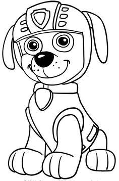 gratis ausmalbildersechs hunde des ersten teams der paw patrol, der eckzahn patrol   shirley's