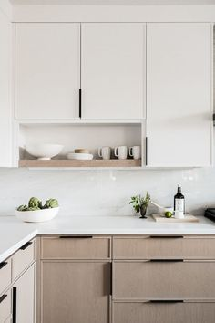 New and Old Looking Modern Kitchen Renovation Styles. Small kitchen design with black wood cabinet. – White N Black Kitchen Cabinets Home Decor Kitchen, New Kitchen, Home Kitchens, Kitchen Dining, Open Shelf Kitchen, Kitchen Ideas For Small Spaces, Two Tone Kitchen, Kitchen Decorations, Modern Kitchens