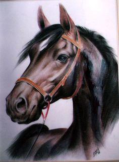 Картинки по запросу caballo negro en acrilico