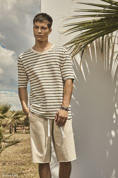 Official fashion campaign for Spring/Summer 2017 Ss 2017, Campaign, Button Down Shirt, Men Casual, Spring Summer, Scenery, Mens Tops, T Shirt, Fashion