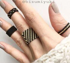 ✔ Jewelry Making Rings Jewels Diy Jewelry Rings, Diy Jewelry Unique, Diy Jewelry To Sell, Beaded Rings, Beaded Jewelry, Jewelry Making, Bead Loom Bracelets, Bead Earrings, Beaded Bracelets