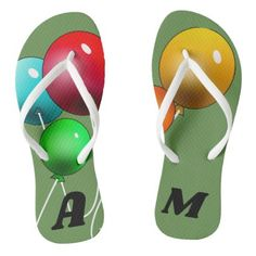 f24b14fb53f0 Balloon FlipFlops - pattern sample design template diy cyo customize Kids  Birthday Gifts