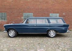'66 Mercedes Benz 200D Universal Kombi. Not a MB fan, other than Unimogs, but the thought of a German wagon with fins is fun. I'd drive this.