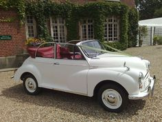 Morris Minor Convertible (1962) Wedding Car. My family used to own one of these.