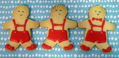 gingerbreadman boys in vanilla red shorts cookies
