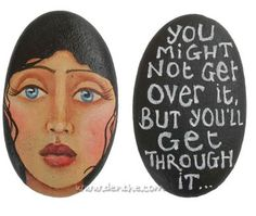 Best painted rock art ideas with quotes you can do (47)