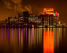 Baltimore Art Domino Sugar Shows Baltimore Ravens by SolsticePhoto