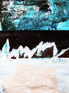 Ian MacLeod ::  'Untitled' -  Acrylic, varathane and glue on paper.