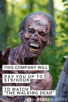 """Dreams do come true. Here's how to get paid to watch """"The Walking Dead"""" -- from your bed -- as a digital cataloguer. No experience required. @thepennyhoarder"""