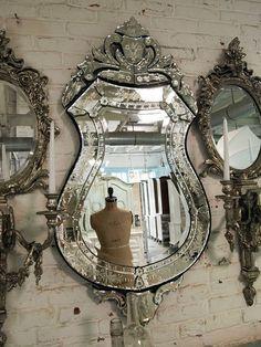 Vintage glam mirror...pretty