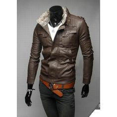 wholesale women Brown Synthetic Leather Coat $ 22.83