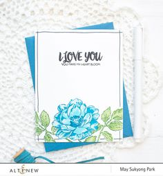 In style with our popular layering stamps, this set has a large 4-step Peony, and a few other supporting images some of which are multi-step and others simply outline image. Notice that the flower and