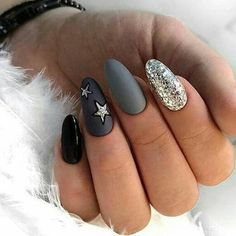 Easy Nail Designs For Winter Picture almond nails for winter stiletto nail art designs winter Easy Nail Designs For Winter. Here is Easy Nail Designs For Winter Picture for you. Easy Nail Designs For Winter almond nails for winter stiletto nail. Grey Nail Art, Grey Acrylic Nails, Stiletto Nail Art, Grey Matte Nails, Classy Nails, Simple Nails, Trendy Nails, Cute Nails, Grey Nail Designs