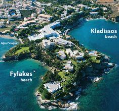 panoramic view of the beach of Kladissos (Agia Pelagia, CRETE) #Kladissos #agiapelagia #crete