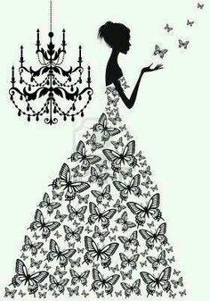 dama z motylami