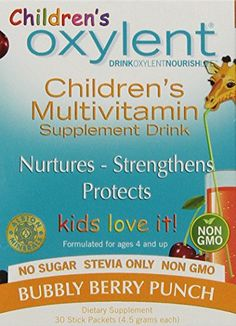 Children's Oxylent, Bubbly Berry Punch, 4.5 g,  30-count *** You can get additional details at the image link.