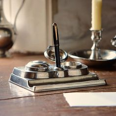 #Luxury Inkwells and pens on your office table  http://www.luxuryproducts.pl/p,oryginalny_kalamarz__vintage,62326,446.html