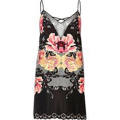 Black floral slip with lace detail - pyjamas / loungewear - Lingerie  Nightwear - women Clothing, Shoes & Jewelry - Women - Clothing - Lingerie, Sleep & Lounge - Lingerie - Lingerie, Sleepwear & Loungewear - http://amzn.to/2lSL4Y7