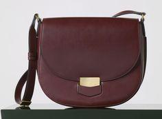Celine Medium Trotteur Bag in Burgundy