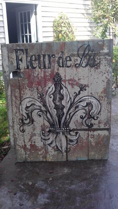 Fleur de Lis door by Molly Strong