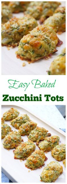 Easy and Healthy Zucchini Tots