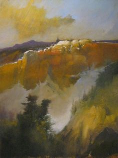 Original Signed Painting Impressionist Mountain Landscape Darryl Steele Artist #Impressionism