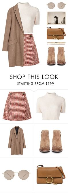 """""""MOCHA"""" by arditach ❤ liked on Polyvore featuring Prada, Rachel Comey, Zara, H by Hudson, Gucci and Chloé"""