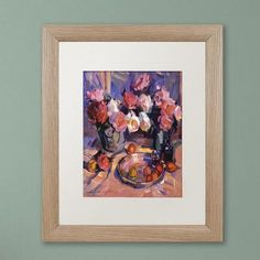 "Trademark Art ""Still Life Apres Manet"" by David Lloyd Glover Matted Framed Painting Print Size:"
