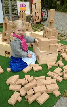 KORXX Outdoor Play - cork building blocks