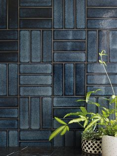 Raku Yokohoma navy blue hand decorated tile shown on the wallYou can find Wall tiles and more on our website.Raku Yokohoma navy blue hand decorated tile shown on the wall Yokohama, Fireclay Tile, Brick Tiles, Blue Tiles, Wall And Floor Tiles, Patterned Wall Tiles, White Wall Tiles, Geometric Tiles, Color Tile