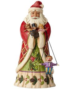 Jim Shore Santa with Toys Collectible Figurine - Christmas Decorations - For The Home - Macy's