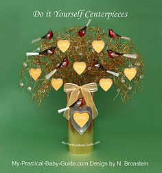 DIY Christmas Baby Shower Wishing Tree